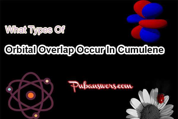 What types of orbital overlap occur in cumulene?