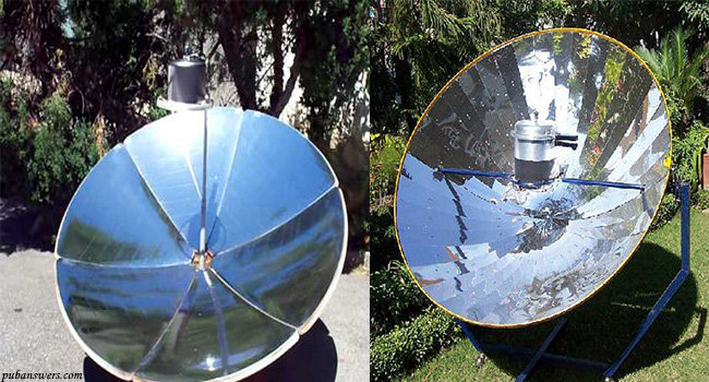 Uses of concave and convex mirror in Solar ovens